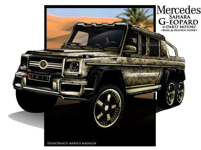 """Mercedes-Benz G63 AMG V8 Biturbo 6x6: """"unique"""" W463_6x6_dartz01"""